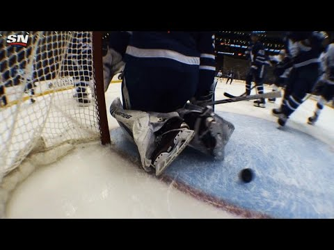 After review Alex Killorn beats Frederik Andersen for his 5th goal
