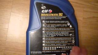 Трансмиссионное масло ELF RENAULTMATIC D2. Обзор.