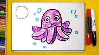 Рисуем Алфавит | Буквы Н О П Р | Урок рисования для детей