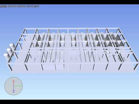 3D engineering display the construction progress of filter press HOT Mining