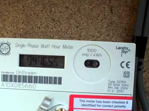 Electricity Meter : Another year, and 4965.5 kWh - YouTube