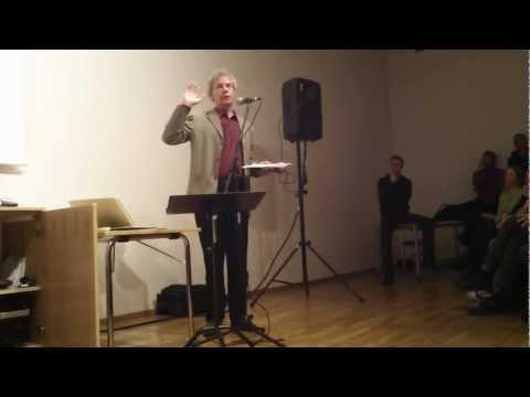 Bill Bruford lecture/föreläsning Malmo Malmö 7 November 2011
