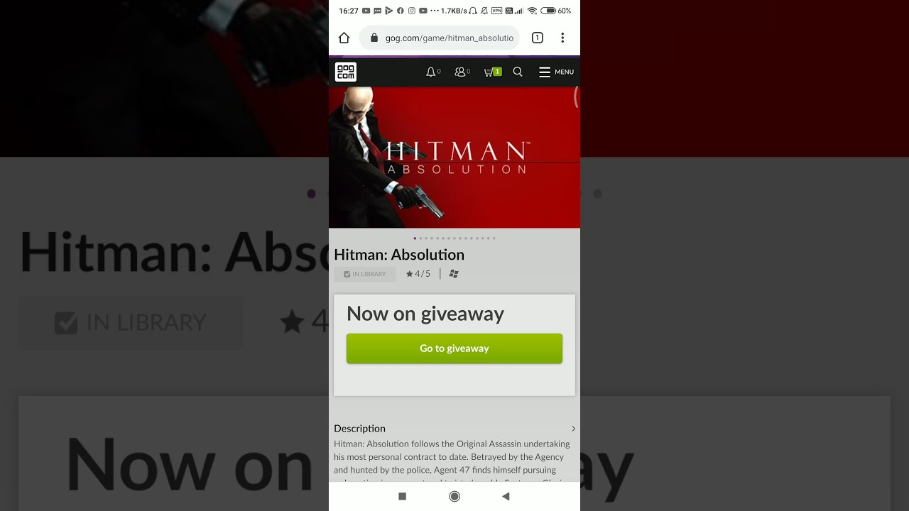 Hitman Absolution is now FREE ON gog.com (limited time offer)