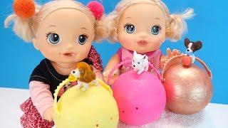 Как МАМА и Девочки Чуть Не Поссорились Мультик для детеи Куклы Сюрпризы 108мама тиви
