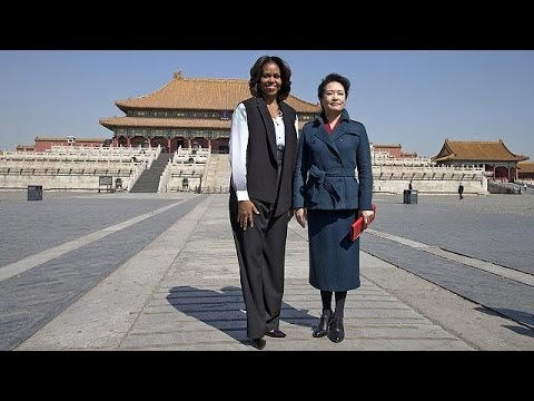 Michelle Obama and Peng Liyuan