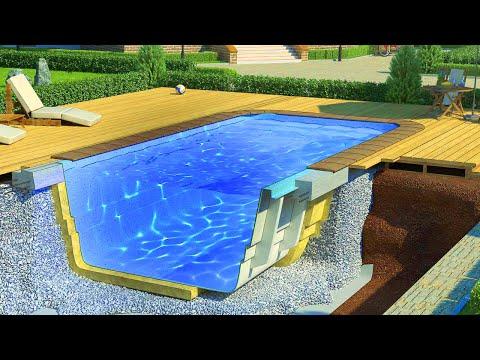 Как установить композитный бассейн