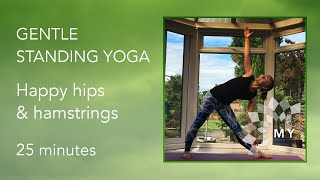 Video Gentle Standing Yoga - Happy Hips & Hamstrings - 25 minutes download MP3, 3GP, MP4, WEBM, AVI, FLV Maret 2018