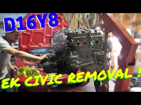 D16Y8 REMOVAL  EK CIVIC !  HSG EP. 5-10