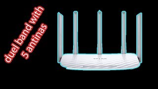 router unboxing tp link 5 antina router dual bandwith 2.4 and 5ghz