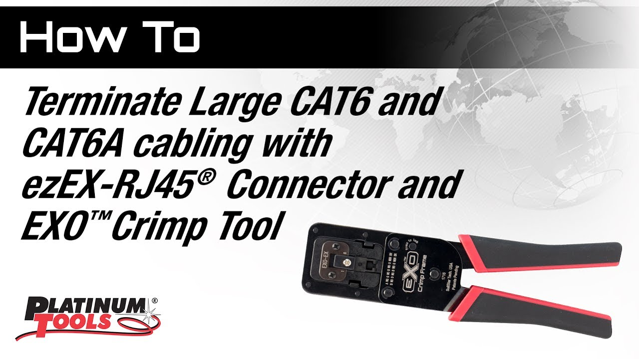 How To Terminate Large Cat6 Or Cat6a Cabling With Ezex Rj45 Connector Wiring Connectors