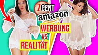 1 CENT AMAZON KLEIDUNG! 😮 WERBUNG vs. REALITÄT! 👗 Live Haul & Anprobe + Erwartung!