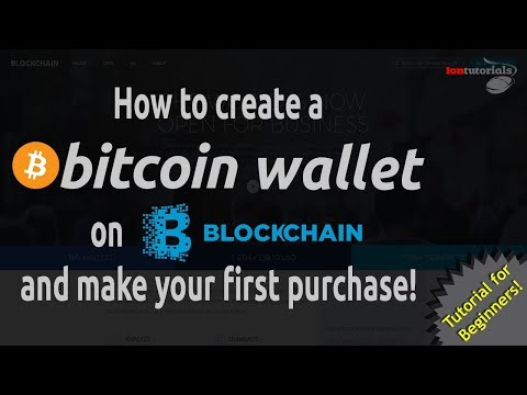 How to create a Bitcoin Wallet on Blockchain and make your first purchase! - Tutorial For Beginners