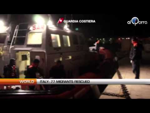 Italy: 77 migrants rescued