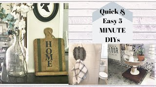 DOLLAR TREE EASY & QUICK FARMHOUSE DIYS / BUDGET FRIENDLY FARMHOUSE DIY DECOR