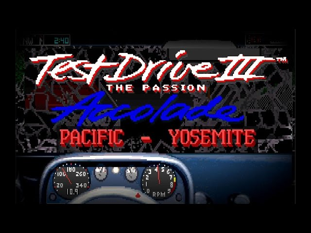Test Drive III: The Passion 'Pacific-Yosemite (PC/DOS) 1990, Accolade