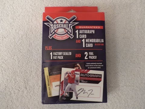 Baseball Trading Cards Box #2 - Guaranteed Autograph and Memorabilia Card