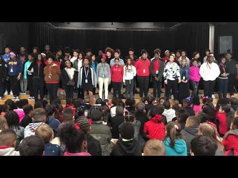 Black History Program at Bessie Coleman Middle School 2020