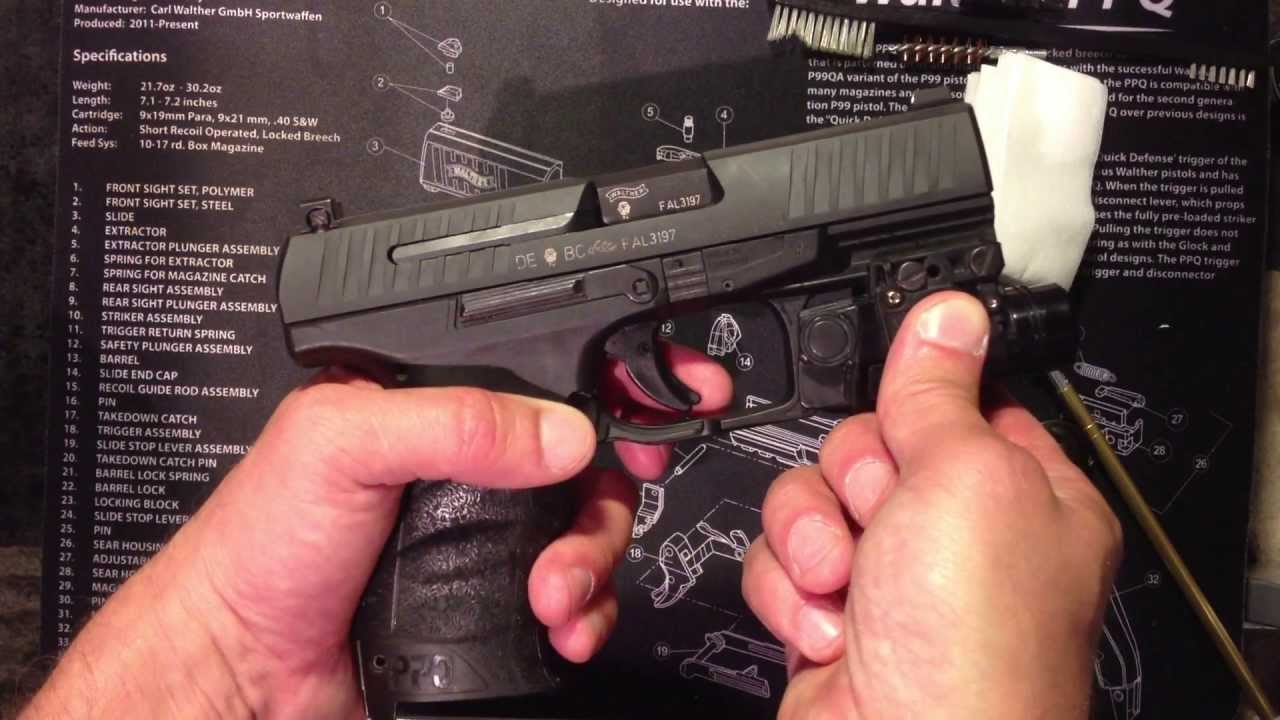 HOW TO CLEAN A PISTOL (WALTHER PPQ , PPQ M2 )