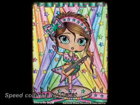 chibi rock star hair speed coloring by Osnat