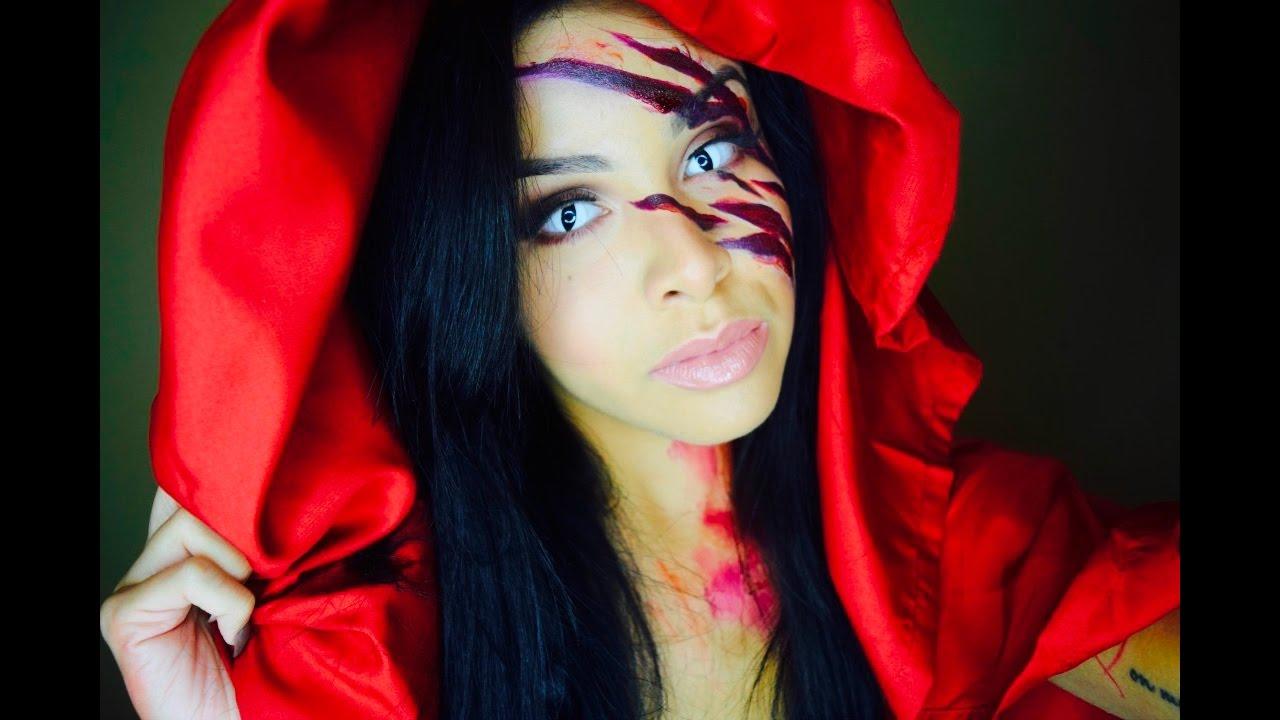 Halloween Makeup Tutorial | Little Red Riding Hood - YouTube