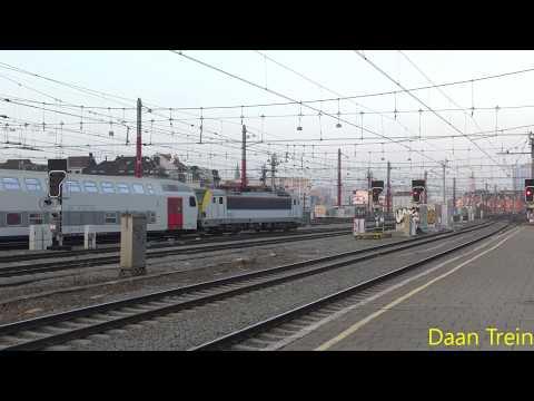 HLE 18 93 met M5 vertrekt uit Brussel Zuid