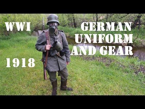 WW1 1918 Imperial German Infantryman Uniform And Equipment.