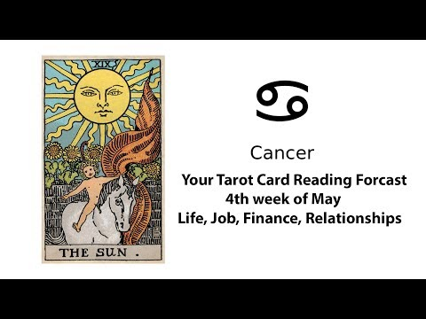 General Tarot Card Reading for Cancer for 4th of May | Life, Work, Money, Relationships