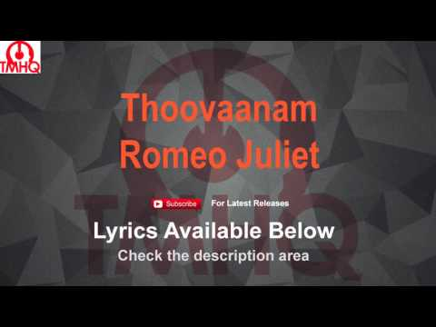 Thoovaanam Karaoke with Lyrics - Romeo Juliet