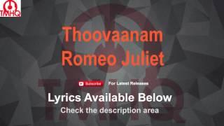 Thoovaanam Karaoke with Lyrics - Romeo Juliet