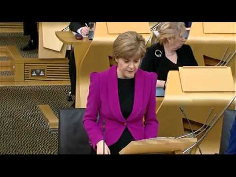 Parliament House handed over to Faculty of Advocates   FMQ's Nicola Sturgeon 19Feb2015