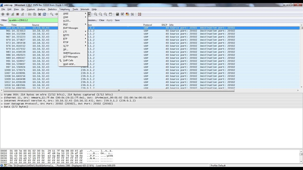 Troubleshooting Multicast Audio Calls with Wireshark
