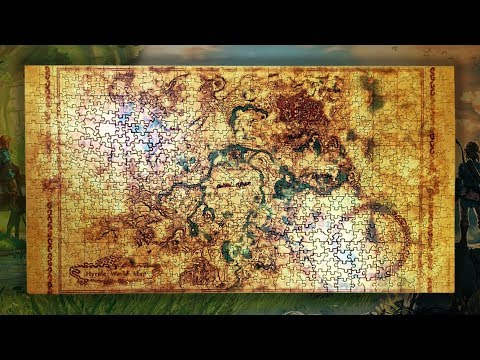 Hyrule World Map Time Lapse Puzzle The Legend Of Zelda Breath Of The Wild Youtube