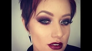 Burgundy Smokey Eyes & Lips Thumbnail