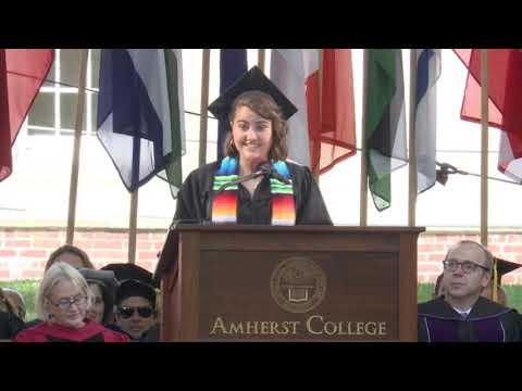 Senior Class Speaker: Helena Burgueño '19 - Amherst College Commencement 2019