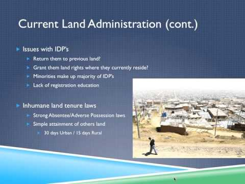 Columbia Land Administration Presentation