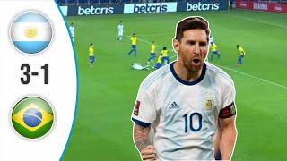 ARGENTINA VS BRAZIL 3-1 FULL HIGHLIGHT 2021