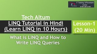 linq tutorial in hindi , what is linq , linq tutorial with example ...