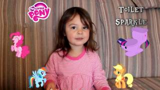 Cute Two Year Old Names The Little Ponies... Is one named Toilet Sparkle?
