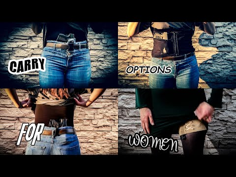 Daily Concealed Carry Options for WOMEN💁♀️Several Different Methods + Draw to 1st Shot On Timer⏱