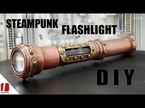 Steampunk Flashlight How To Make