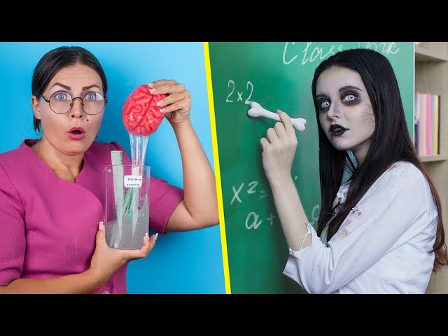 Zombie At School! / 12 DIY Zombie School Supplies