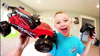 Father & Son GET GIANT RC CAR! / Down The Stairs!