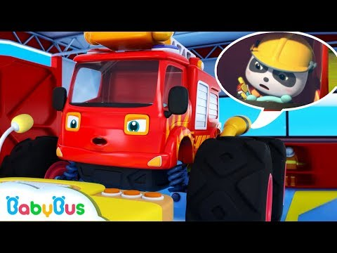 Action! Super Fire Truck | Super Panda Rescue Team | Monster Cars, Super Train | BabyBus