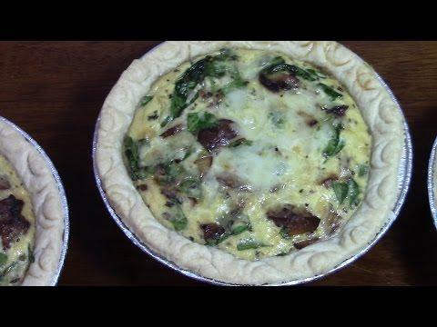 Spinach, Mushroom, & Sausage Quiche