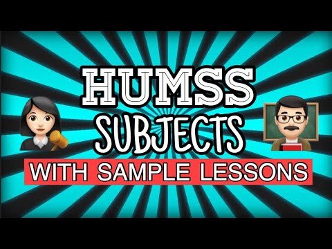 Sample Subjects Of HUMSS In Senior High School | With Sample Lessons