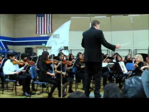 2012 Harvest Park Middle School String II Winter Concert Ottorino Respighi Antique Dances and Airs