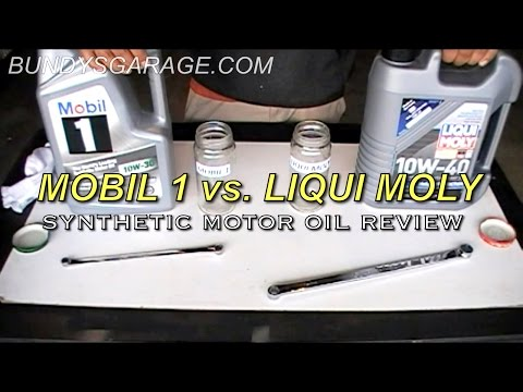 Mobil 1 vs. Liqui Moly - Synthetic Motor Oil Review - Bundys Garage