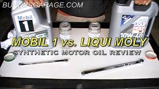 mobil 1 vs liqui moly   synthetic motor oil review   bundys garage