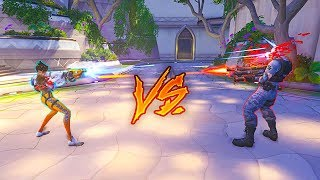 1 Silver with AIMBOT vs 6 Gold Players Who Wins Overwatch