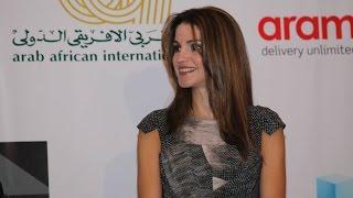 الملكة رانيا تتحدث خلال مشاركتها في إطلاق الفرع المصري لمجموعة القيادة العربية للاستدامة في القاهرة